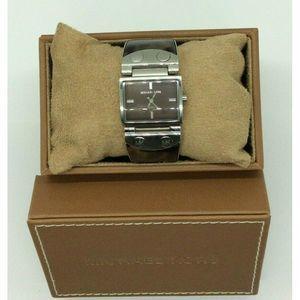 Michael Kors Tortoise Silver Tone Watch Brown Face